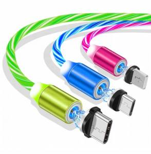 3w1 Kabel LED do IPHONE TYP C mikro USB 1 metr